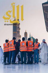 """""""هيئة الهلال الأحمر بالمدينة"""" 500 موظف لخدمة ضيوف الرحمن"""