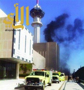 مدني الرياض يخمد حريقا في برج التلفزيون.. بلا إصابات