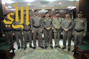 ترقية عدد من ضباط شرطة منطقة الجوف الى رتبة عقيد