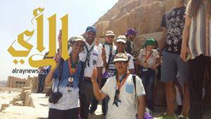 صغار الإعلام الكشفي السعودي يتدربون على التصوير الصحفي في أهرامات الجيزة