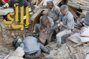 ارتفاع حصيلة وفيات زلزال ايطاليا إلى 159 شخصاً