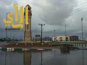 محافظة طريب تشهد أمطار غزيرة متواصلة على مدار 12 ساعة