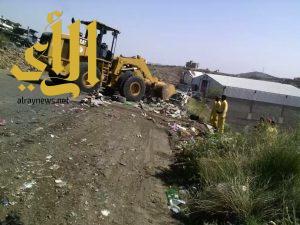 أمانة عسير تزيل أكثر من ٣١ ألف طن من النفايات خلال شهر شوال