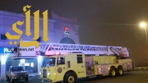 اخماد حريق في سوبر ماركت شهير بأبها