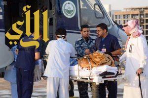 طيران الأمن ينقل مصاب بحادث مروري إلى الرياض
