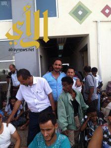 مركز الملك سلمان للإغاثة ينقل 43 مصاباً يمنياً من تعز للعلاج في السودان