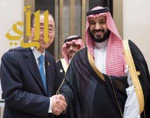 سمو ولي ولي العهد يلتقي الأمين العام للأمم المتحدة