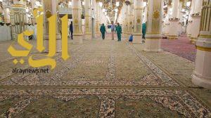 تجديد سجّاد المسجد النبوي الشريف