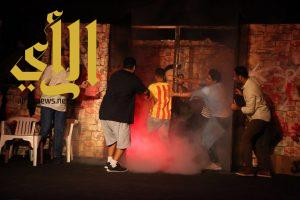 """الفرق الشعبية ومسابقات الأطفال ومسرحية """"الزومبي"""" تجذب الزوار لمنتزه الملك فهد"""