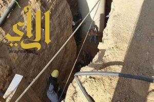 مصرع نيبالي واصابة مصري اخر في انهيار بصرف صحي بنجران
