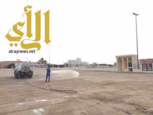 بلدية طريب تهيئ مصليات الأعياد بالمحافظة
