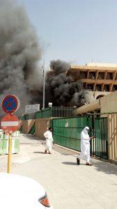 اندلاع حريق بجوازات الرياض