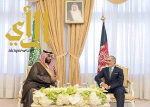 ولي ولي العهد يلتقي الرئيس التنفيذي لجمهورية أفغانستان