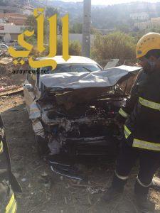 إصابتين متنوعة لحادث مروري على طريق الباحة – المندق