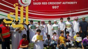 الهلال الأحمر بالمنطقة الشرقية يستقبل طلاب مدارس التطوير الاهلية الابتدائية والمتوسطة