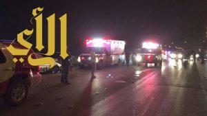 السرعة والتجمهر تخلفا وفاة وإصابات متعددة أمام محطة جرش بالرياض
