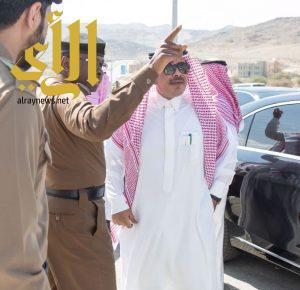 أمير الباحة يتابع ميدانياً الحادث المروري الذي وقع على طريق الباحة العقيق