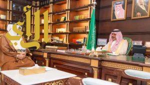أمير منطقة الباحة يستقبل مدير عام فرع وزارة العمل والتنمية الاجتماعية