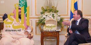 ولي ولي العهد يلتقي رئيس وزراء السويد