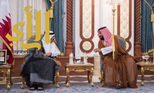 ولي ولي العهد يعزي في وفاة الشيخ خليفة بن حمد آل ثاني