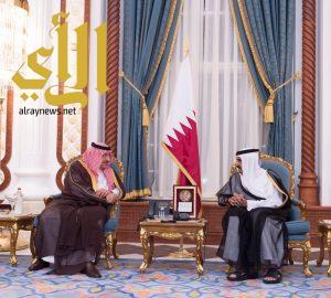 ولي العهد يصل إلى الدوحة لتقديم العزاء
