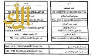 ١٠ إيميلات لتقديم الخدمات الإلكترونية لـ ٣٦ ألف موظف بتعليم مكة