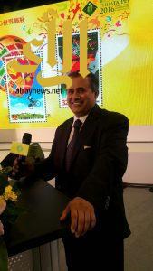 القحطاني يحصل على جائزة دولية للطوابع