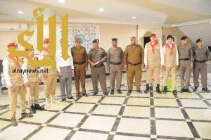 كشافة ثانوية الجزيرة بسكاكا يقومون بزيارة لشرطة منطقة الجوف