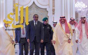 سمو ولي العهد يقيم مأدبة غداء تكريماً لدولة رئيس وزراء جمهورية أثيوبيا