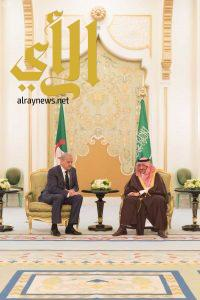 سمو ولي العهد يقيم مأدبة عشاء تكريمًا لدولة الوزير الأول بالجمهورية الجزائرية
