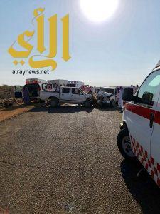 مصرع شخصين وإصابة 6 آخرين بحادث طلاب صباح اليوم على طريق الهجرة