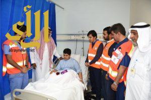 الهلال الأحمر بالشرقية يزور مصابي الحوادث بمناسبة يوم التطوع العالمي 2016م