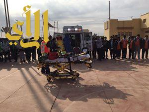 الهلال الأحمر بالجوف يشارك بمخيم الوفاء بسكاكا