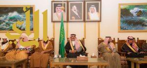 أمير الباحة يستقبل أصحاب الفضيلة القضاة ومديري الإدارات الحكومية ومحافظي المحافظات