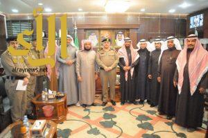 مدير شرطة منطقة الجوف يستقبل رئيس المجلس البلدي واعضاء المجلس