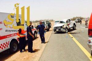 تصادم مروع لعدة مركبات يصرع ويصيب 4 أشخاص بالطائف