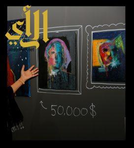 """لوحة سعودية بـ50 ألف دولار تستوقف زوار """"حكايا مسك"""""""