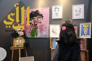 فنانة سعودية تعتمد على خيالها الخصب في ابتكار شخصيات وهمية