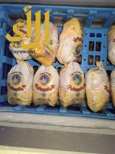 زراعة بيشة تضبط كميات دجاج منتهي الصلاحية