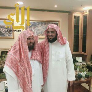 """""""بن فحاس"""" في ضيافة معالي الشيخ السديس"""