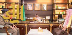 أمير الباحة يستقبل مدير الدفاع المدني بمنطقة الباحة المكلف