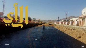 أمانة نجران : إنجاز ٣٨% من مشروع درء أخطار السيول بطريق الأمير نايف