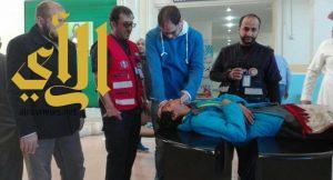 الهلال الأحمر بخميس مشيط يشارك في خطة الإخلاء ومحاضرة لمنسوبي ثانوية رياض الخميس