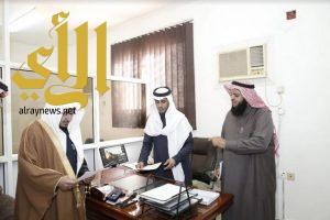 الشيخ المجماج يتفقد إدارة المساجد والدعوة والإرشاد بمحافظة رياض الخبراء