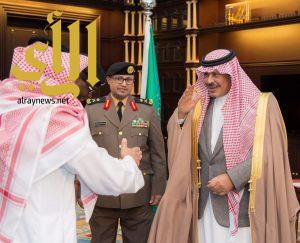 أمير الباحة يستقبل مدراء الشرطة والمرور والدوريات الأمنية بالمنطقة