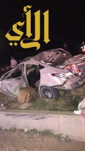 مصرع ثلاثة أشخاص وإصابة ثلاثة آخرين بحادث مروري على طريق الحائر