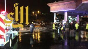 مدني أبها يخمد حريقاً بمحطة وقود على طريق السودة