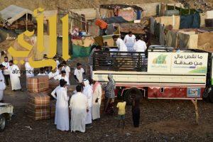 """بر أبها تطلق حملة """"عطاء"""" مع فريق جامعة الملك خالد التطوعي"""