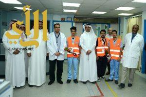 مستشفى الملك فهد بالباحة يستقبل متطوعيّ الهلال الأحمر
