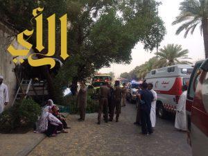 إصابة خمسة أشخاص بحادث باص في منطقة السبع المساجد بالمدينة المنورة